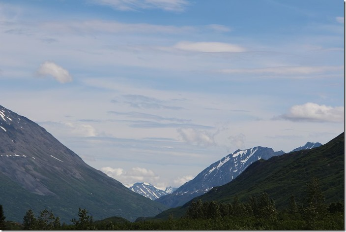 Berge am Alaska Highway