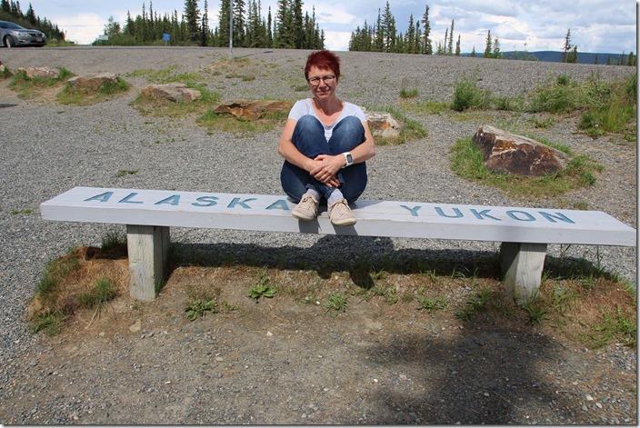 Grenze zwischen Kanada und Alaska