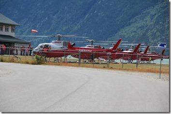 Hubschrauber in  Skagway