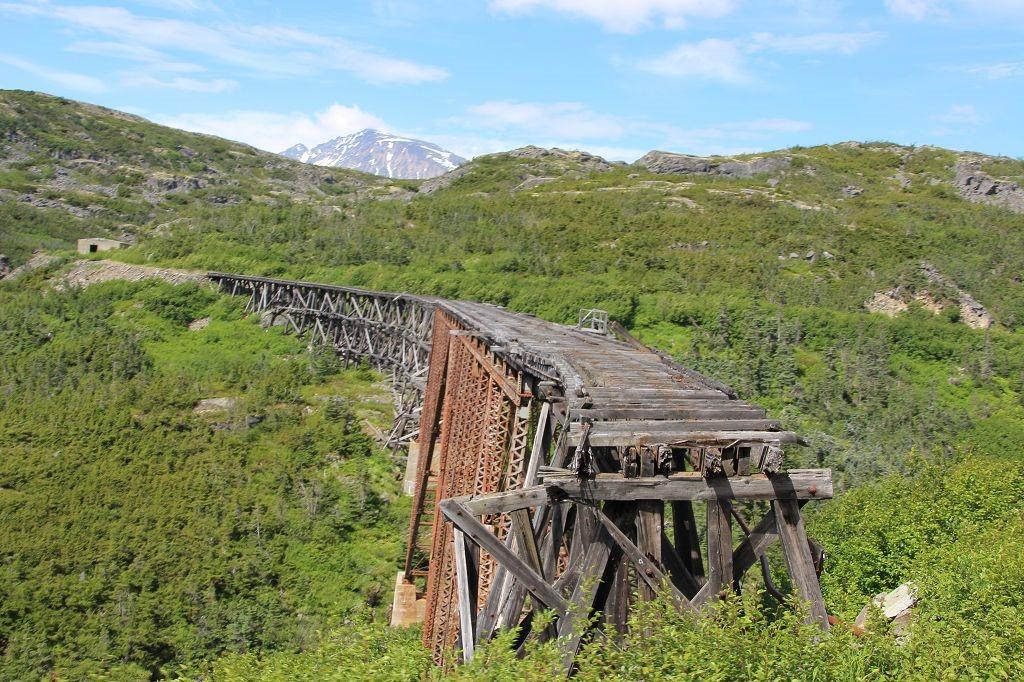 Brücke der White Pass and Yukon Railway